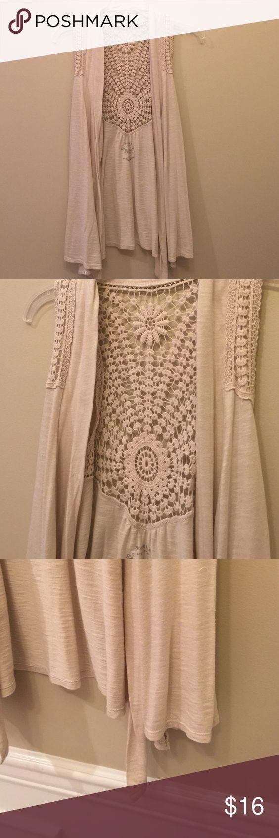 Sonoma Assymetrical Crochet Tee Vest Excellent condition. Sonoma Tops
