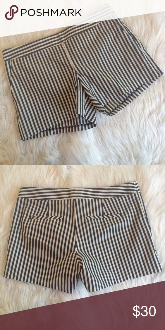 "💜💜 STRIPED SHORTS NWOT. 16"" waist 11.75"" length 4"" inseam. 71% cotton 25% polyester 4% elastane.   **bundles save 10%** no trades/no modeling/no asking for lowest Express Shorts"