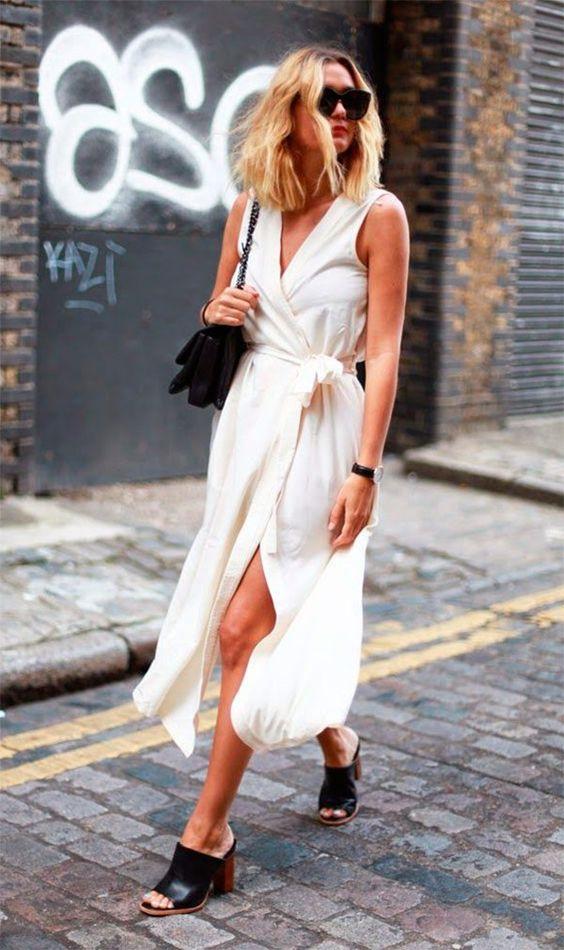 Street style look com mule.: