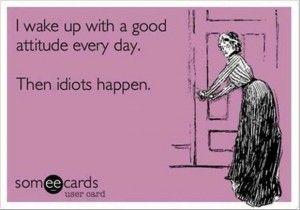 What happens to good attitudes?