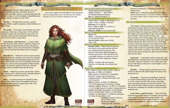 Internal Preview, Arthurian
