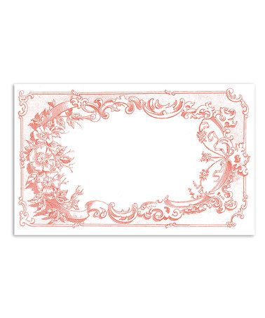 Another great find on #zulily! White & Rose Damask Place Mat - Set of 24 #zulilyfinds