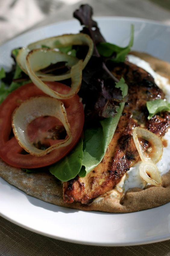 Chicken gyro with homemade tzatziki!!! yum!!! Pascha cant come soon enough (: