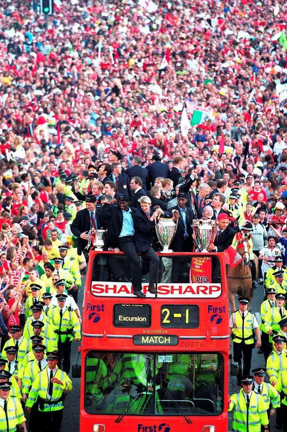 I was 17 when United won the Treble in 1999. The game ended just before school began. I was late to school and wore a United pin badge in honour of the victory.