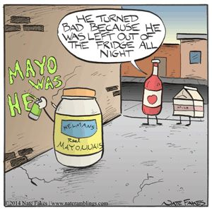 Mayonnaise gone bad. #food #cartoons #funny