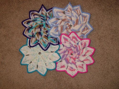 10 Point Hot Pad - Crocheted
