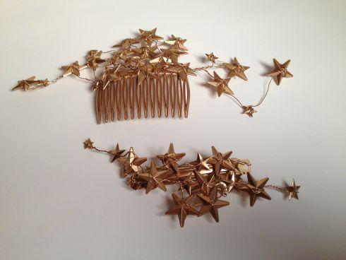 diy star hair clip and comb