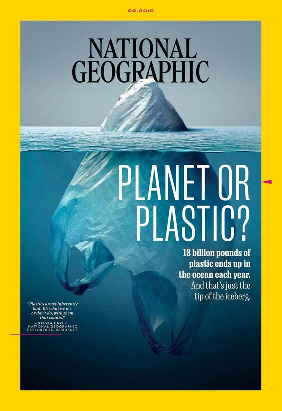 Visual Communication Concepts for Graphic Design: Plasticeberg: National Geographic cover  by Jorge Gamboa.