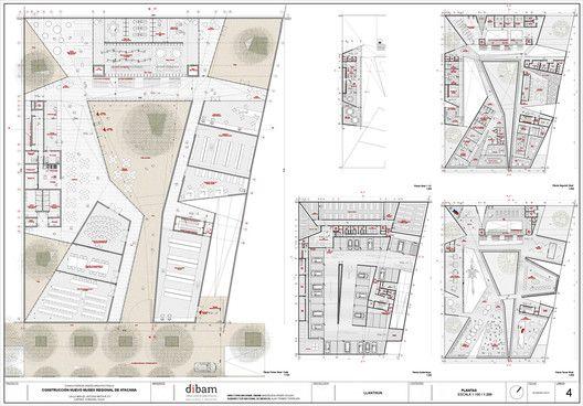 Primer Lugar Concurso Museo Regional de Atacama / Máx Nuñez Arquitectos,Plantas