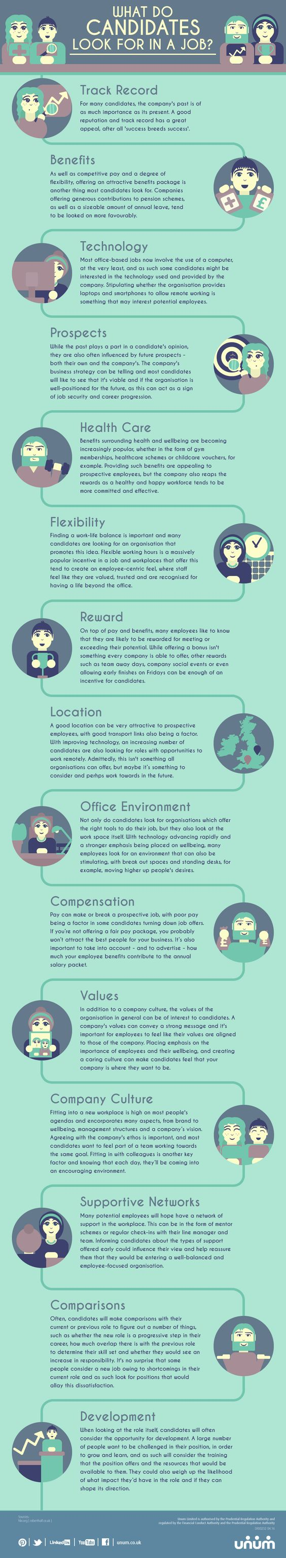 what do candidates look for in a job infographic a website what do candidates look for in a job infographic career job