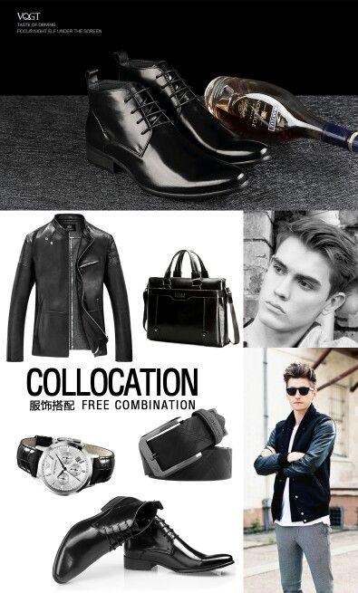 Más nuevos hombres 2015 otoño/invierno de la manera formal alta de cuero en punta Botas Hombre botines zapatos de cuero genuinos