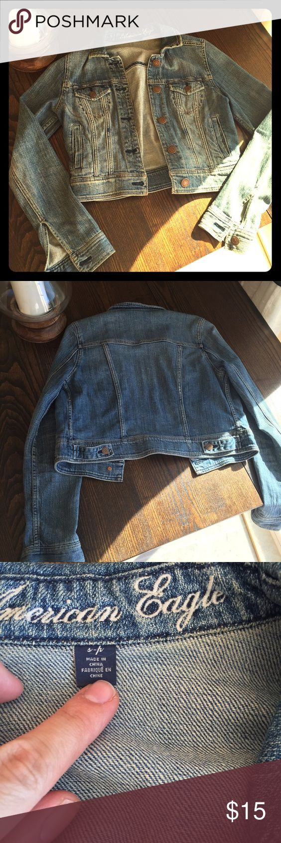 Denim jacket American eagle denim jacket American Eagle Outfitters Jackets & Coats Jean Jackets