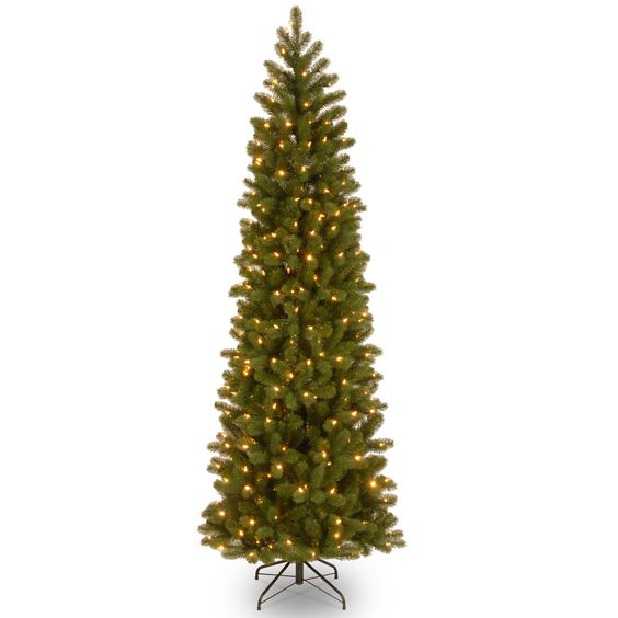 7.ft. Downswept Douglas Slim Fir Tree with Clear Lights