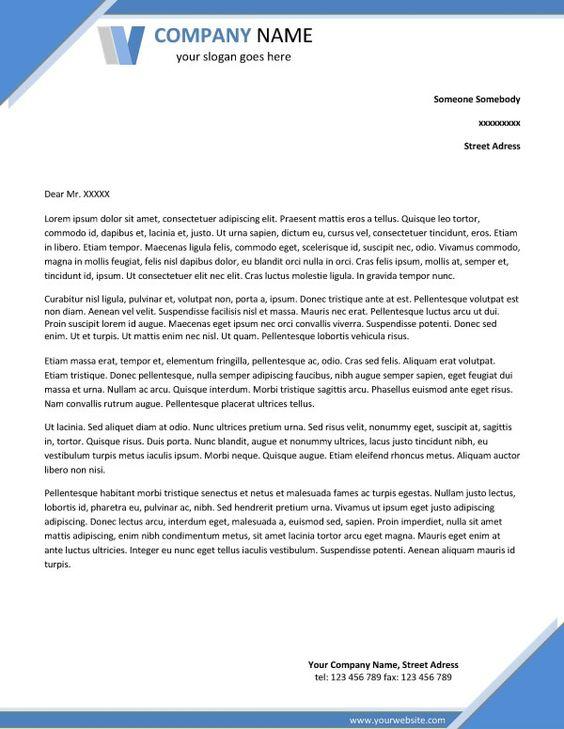 company letterhead template word Fobam Pinterest Company - letterhead template word free