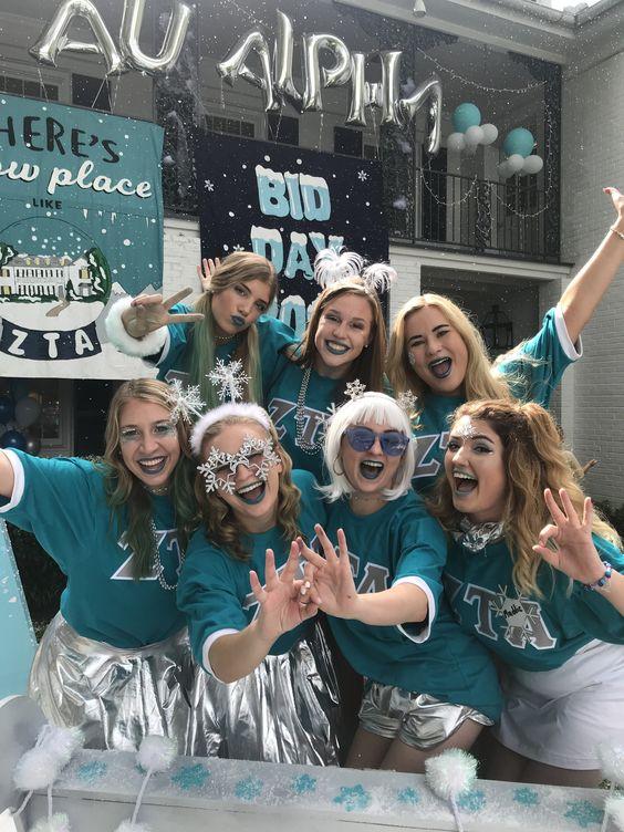 LSU ZTA Winter Wonderland Bid Day 2018 | Ice Ice Zeta | Ice Queenz | Ice Bid Day | Winter Bid Day | Geaux ZTA