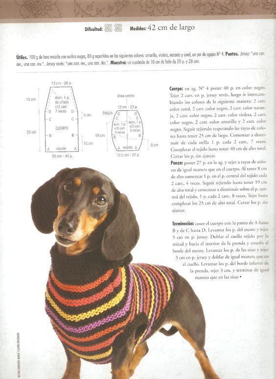 Resultado de imagen para sueter tejido para perro salchicha