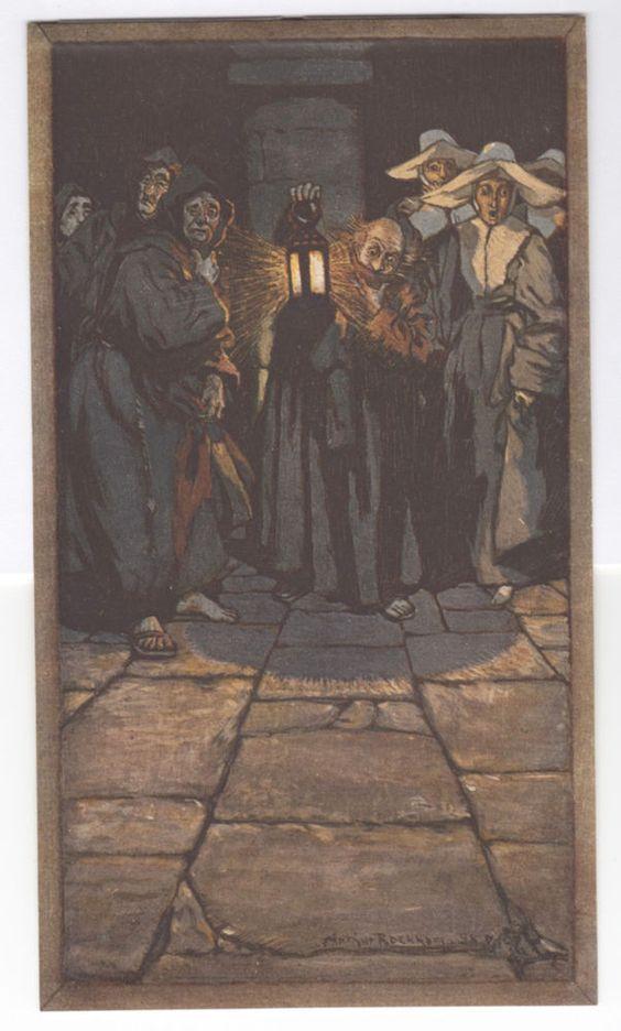 Arthur Rackham  The Monks and the Nuns  Original 1907