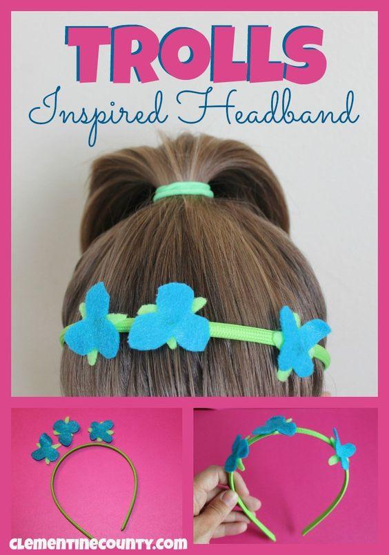 How to make a headband inspired by Dreamworks Trolls.