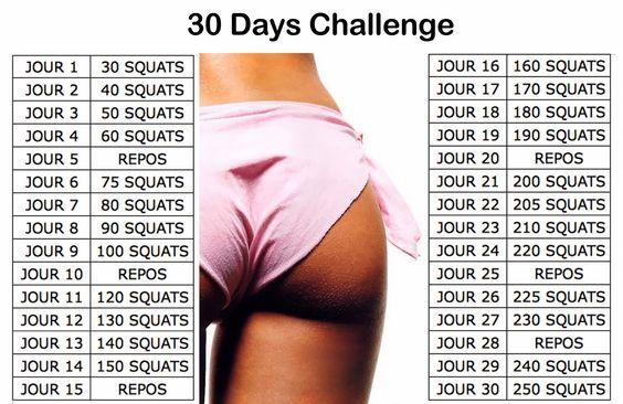 30 jours de squat pour des fesses de r ve health pinterest 30 jours de squats d fi. Black Bedroom Furniture Sets. Home Design Ideas