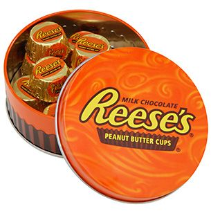 REESE'S Mini Round Filled Tin  Item Number: 071365613525  In Stock Ships within 1 business day  $6.95