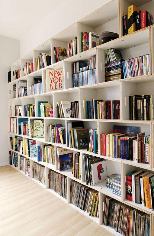 Green Style: BrickBox = Book Boxes Turned Shelves! | Shelves, Book shelves  and Book storage