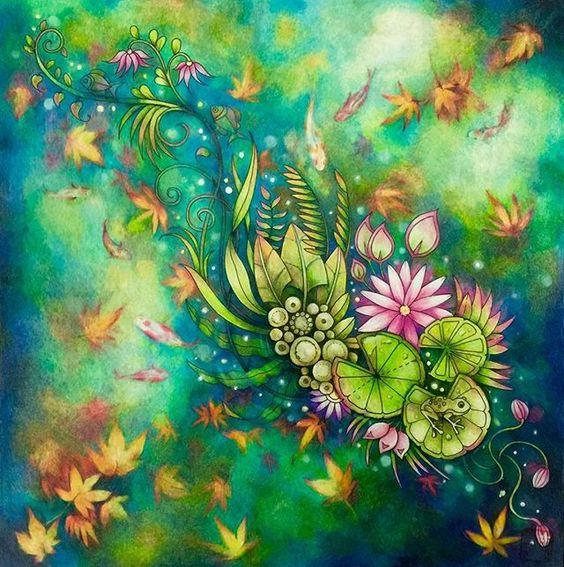 Fall season.  #magicaljungle #johannabasford #prismacolor
