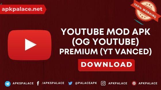 Youtube Vanced Apk Mod Premium Ogyoutube 2020 Download Youtube Music App Youtube Design
