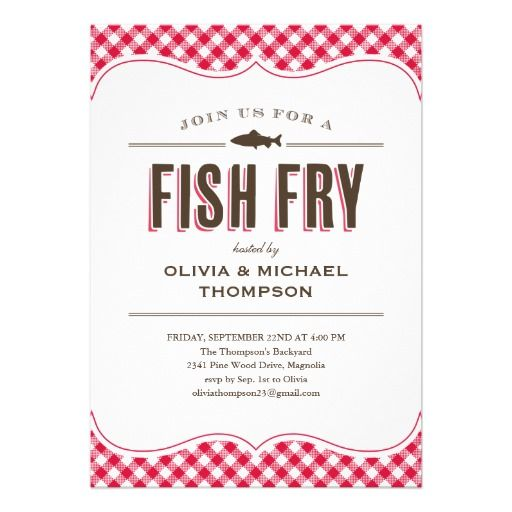 Invitations Fish Fry Party Fish Fry And Party Invitations