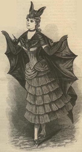 Bat girl tadadadada ...  EvaDress: 1887 Bat Costume pattern