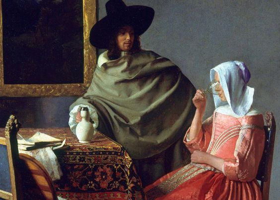 "Romeo on Twitter: ""Jan_Vermeer_Bicchiere di vino-1659 #art… """