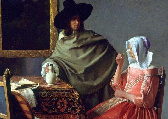 """Romeo on Twitter: """"Jan_Vermeer_Bicchiere di vino-1659 #art… """""""