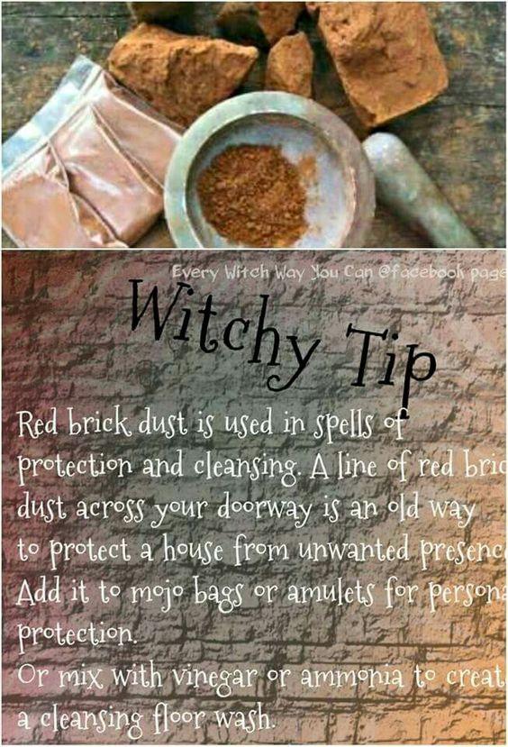 Brick Dust Magickal Tips Hints