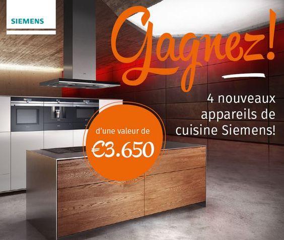 Superieur Gagnez 4 Appareils De Cuisine SIEMENS ! U2022 Echantillons Gratuits En Belgique
