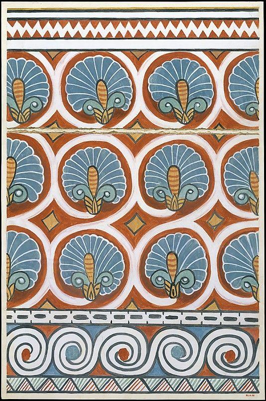 ゴージャスな天井の模様thehereticpharaoh: Ceiling Pattern, Tomb of Qenamun