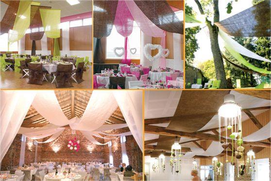 Como hacer decoracion con telas en el techo buscar con - Como decorar salones ...