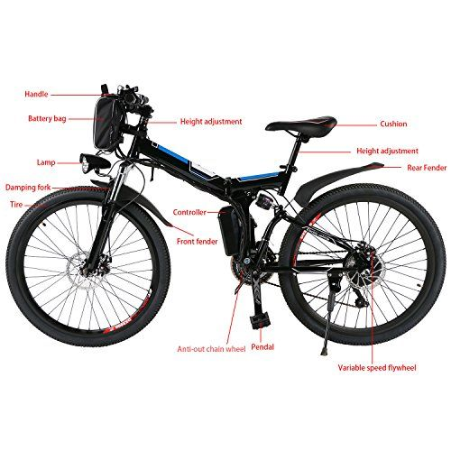 Hiriyt 26 Electric Mountain Bike With Removable Large Capacity
