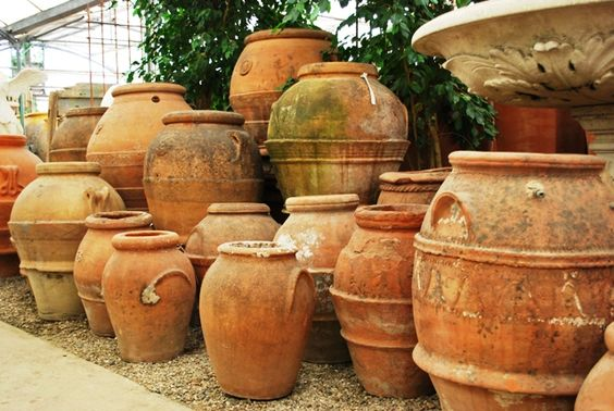 Old Tuscan Oil Jars