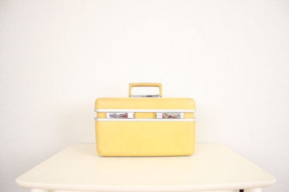 vintage train case. would look so cute to accessorize a room