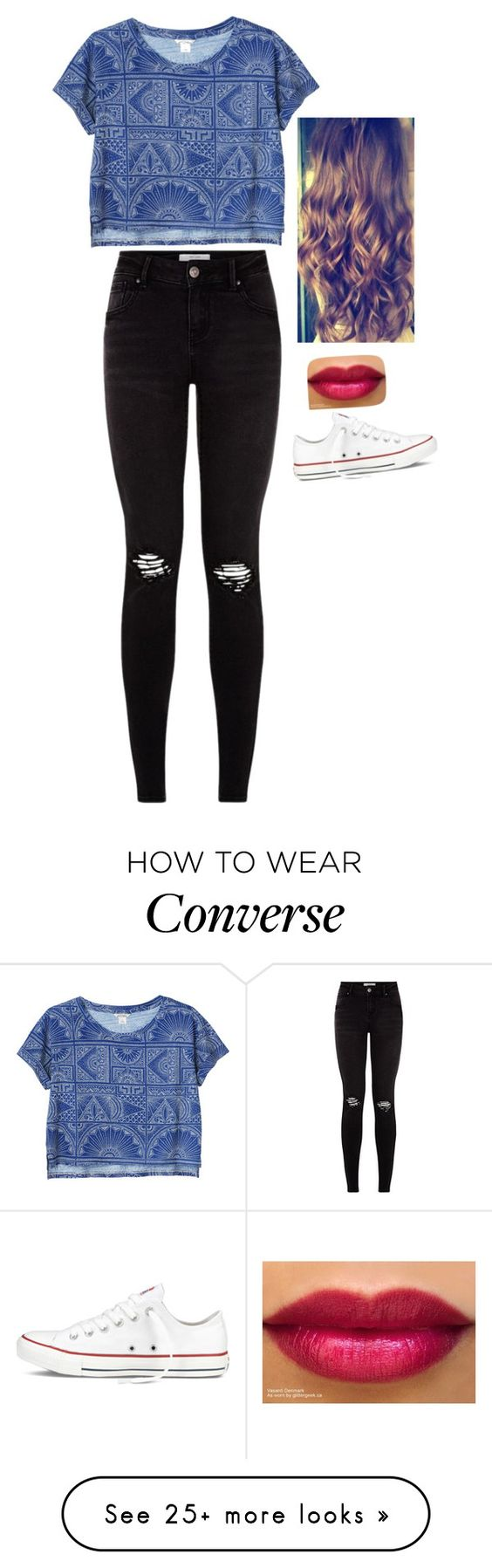 """""""302"""" by silviagp on Polyvore featuring Monki and Converse"""