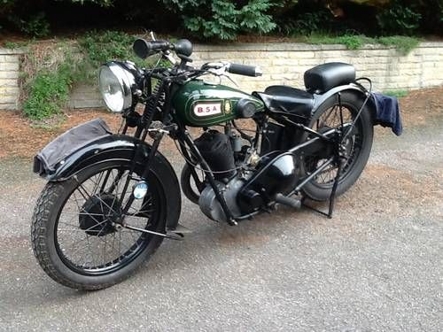 """very collectable bsa h30-8 deluxe """"sloper"""" for sale (1930"""