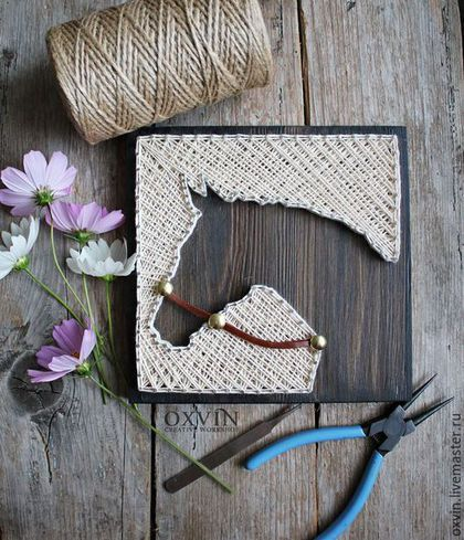 Love this girls and crochet on pinterest - String art modele ...