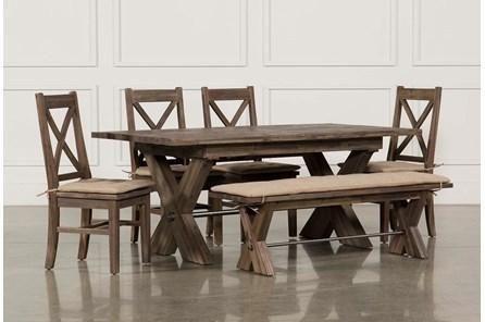 Brown Under 50 Width Wood Dining Room Sets Living Spaces