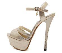 New Brand Design 2015 Women Shoes Summer High Heels sandals Buckle Strap Sexy Open Toe sandal stiletto pumps Ladies Shoes X0407