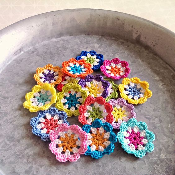 Colourful Crochet Flowers