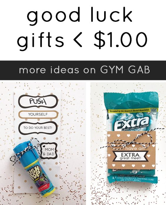 Good Luck gifts for Athletes - DIY for a dollar or less!