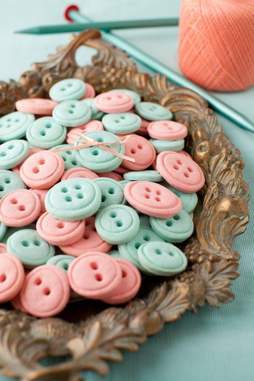 Vanilla cream cheese button cookies