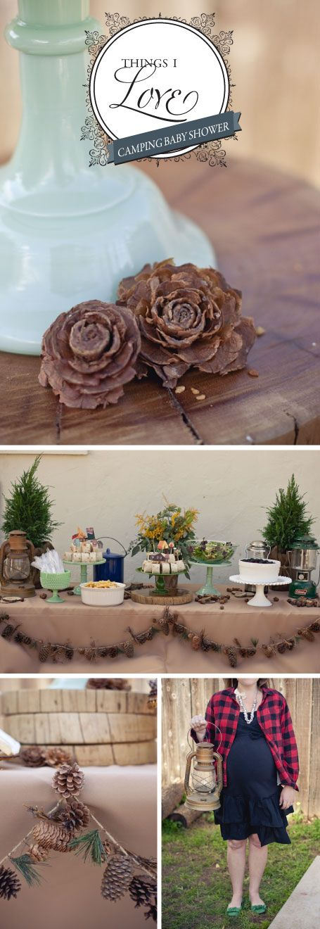 Camping baby shower, are you kidding me!? So cute!