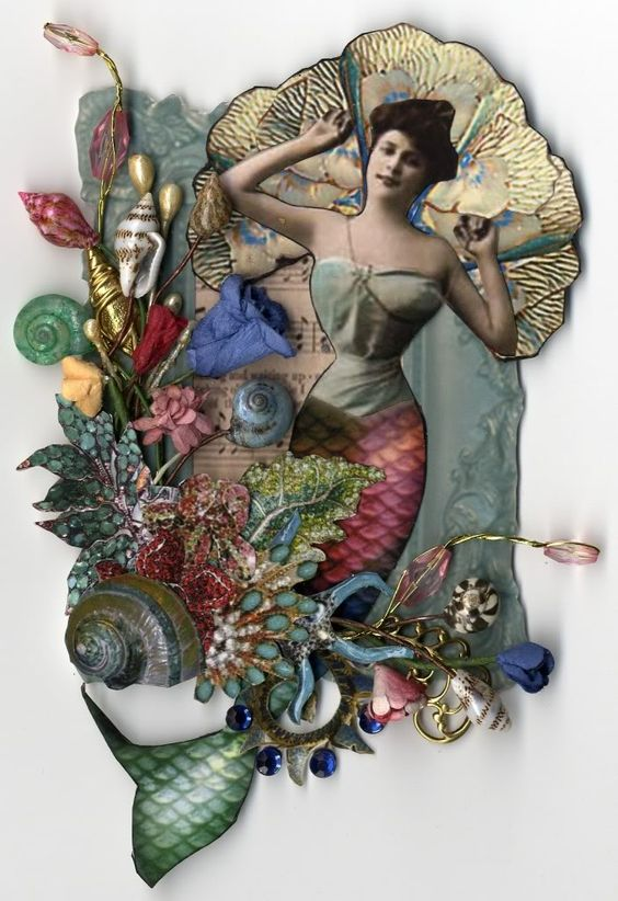 """Mermaid Garden - To see more of my art, signup to win my art, download free images, and learn new techniques checkout my Blog """"Artfully Musing"""" at http://artfullymusing.blogspot.com"""