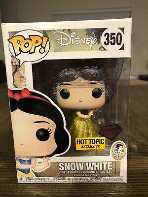 Funko Pop Diamond Collection Snow White #350 Hot Topic Exclusive