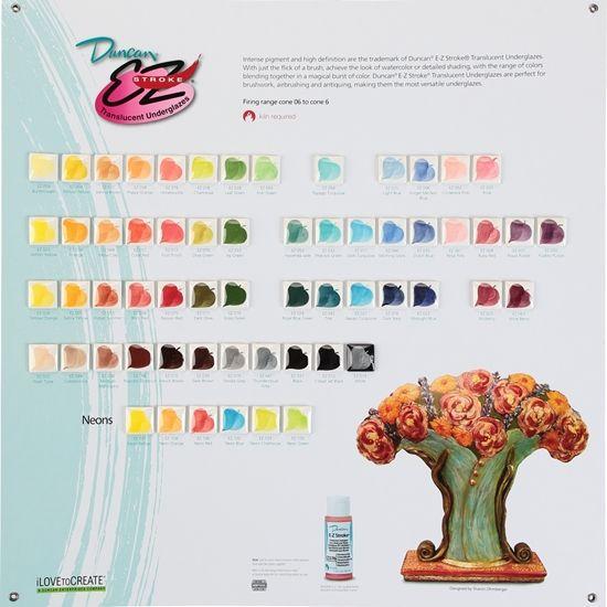 Duncan E Z Stroke Translucent Underglazes Tile Chart Duncan Make Color Translucent